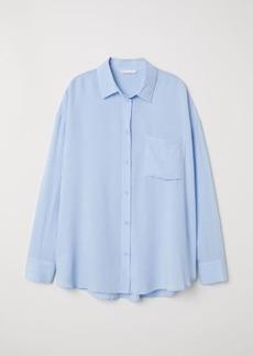 H&M H & M - Viscose-blend Shirt - Blue