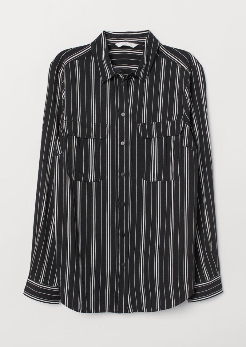H&M H & M - Viscose Blouse - Black