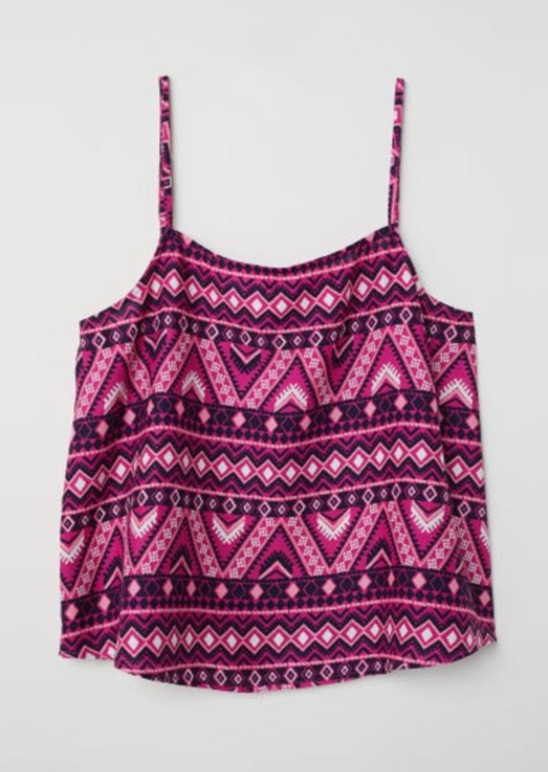H&M H & M - Sleeveless Viscose Top - Pink