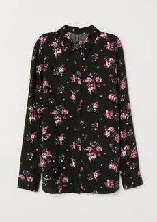 H&M H & M - Viscose Shirt - Black