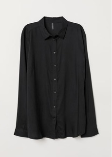 H&M H & M - Viscose Shirt - Black