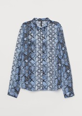 H&M H & M - Viscose Shirt - Blue