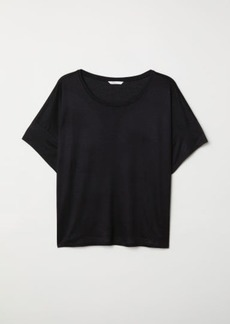 H&M H & M - Viscose T-shirt - Black