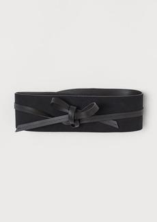H&M H & M - Waist Belt with Ties - Black