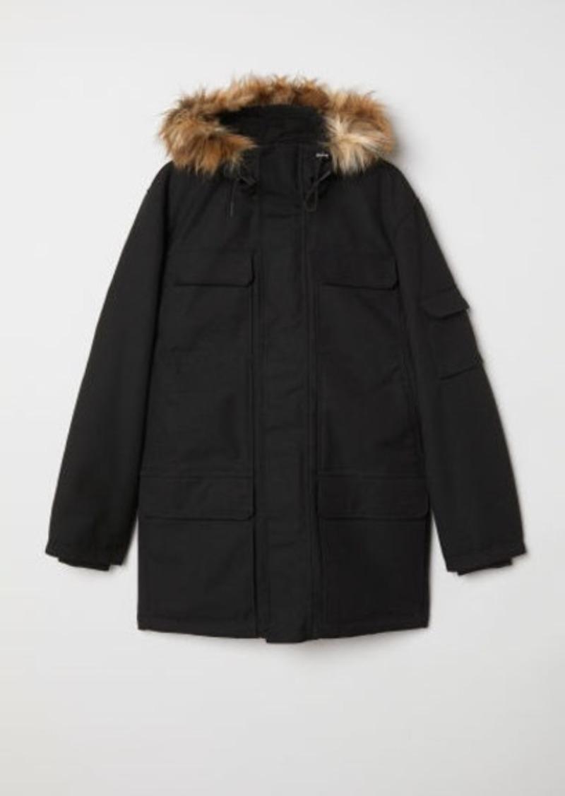 H&M H & M - Warm-lined Parka - Black