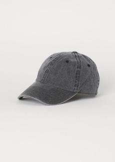 H&M H & M - Washed Cotton Twill Cap - Black
