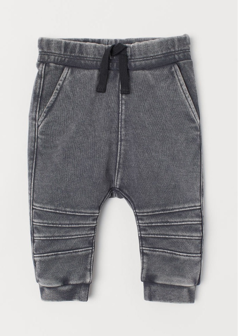 H&M H & M - Washed Joggers - Gray