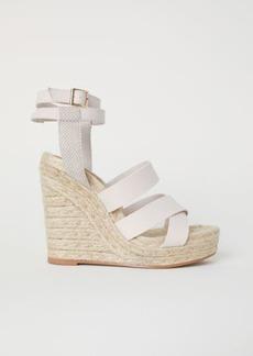 H&M H & M - Wedge-heel Platform Sandals - Beige