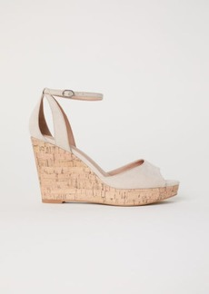 H&M H & M - Wedge-heel Platform Sandals - Beige