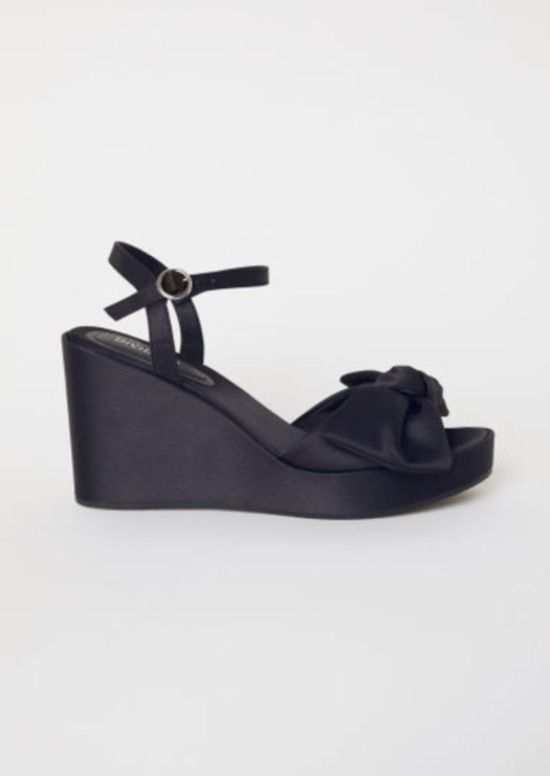 901798d984c H & M - Wedge-heel Sandals - Black