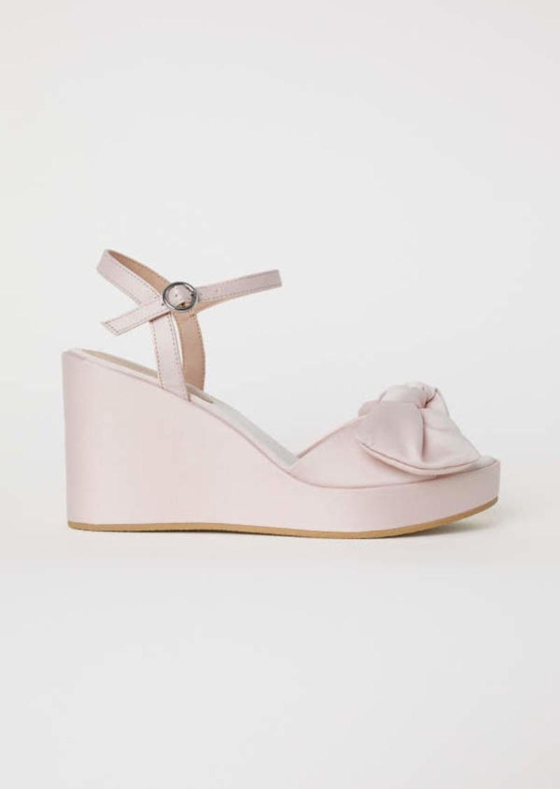 e61138542e6 H & M - Wedge-heel Sandals - Light pink - Women