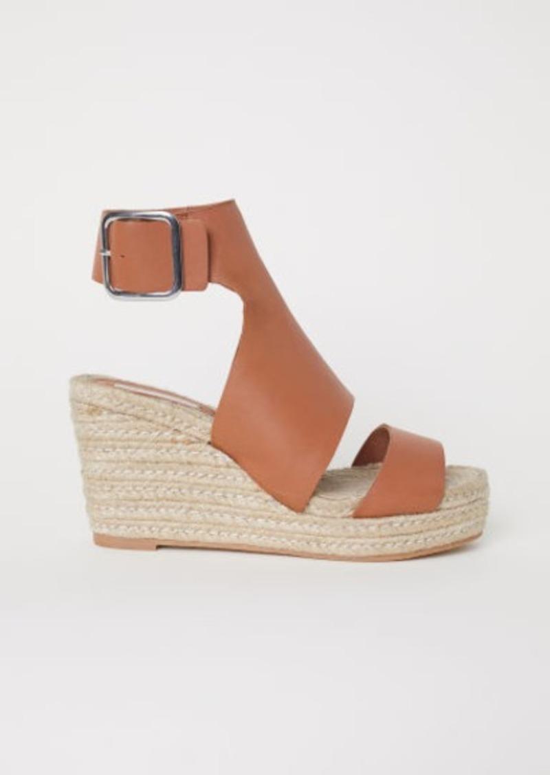 73f4f37922 H&M H & M - Wedge-heel Sandals - Orange | Shoes