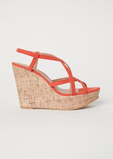 H&M H & M - Wedge-heel Sandals - Orange