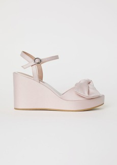H&M H & M - Wedge-heel Sandals - Pink