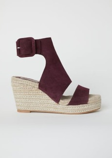 H&M H & M - Wedge-heel Sandals - Red