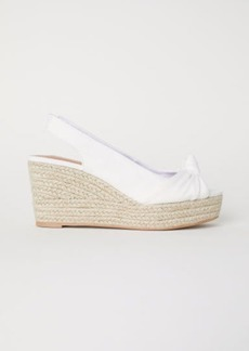 H&M H & M - Wedge-heel Sandals - White