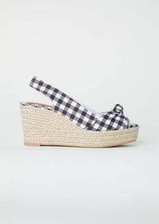 H&M H & M - Wedge-heel Sandals - White