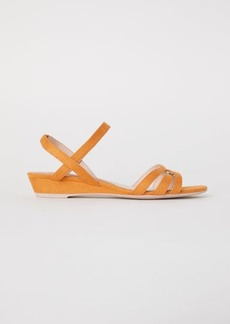 H&M H & M - Wedge-heel Sandals - Yellow