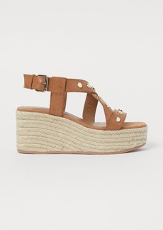 H&M H & M - Wedge-heeled Sandals - Beige