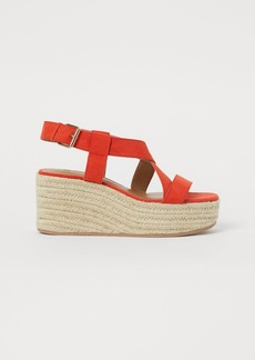 H&M H & M - Wedge-heeled Sandals - Orange