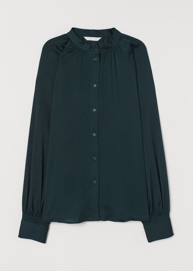 H&M H & M - Wide-cut Blouse - Green
