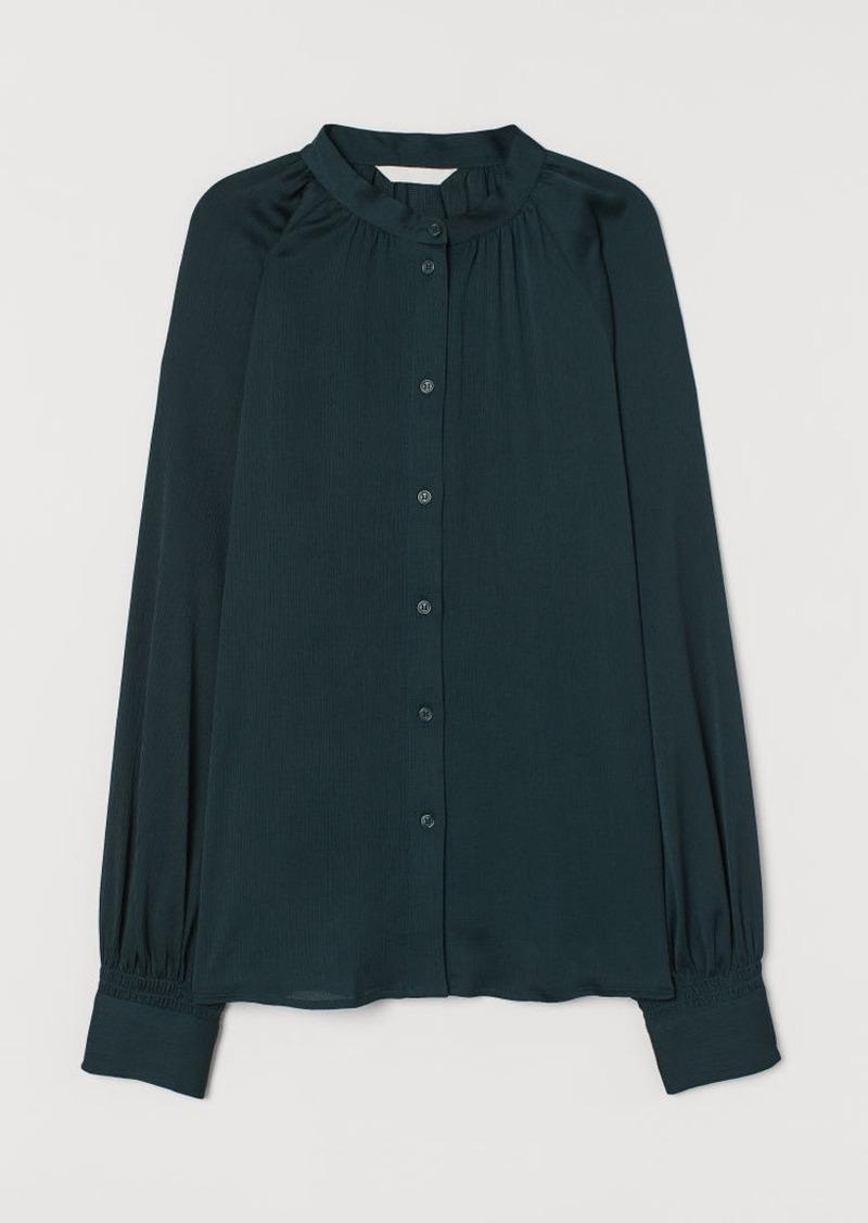 H&M H & M - Wide-cut Blouse - Green