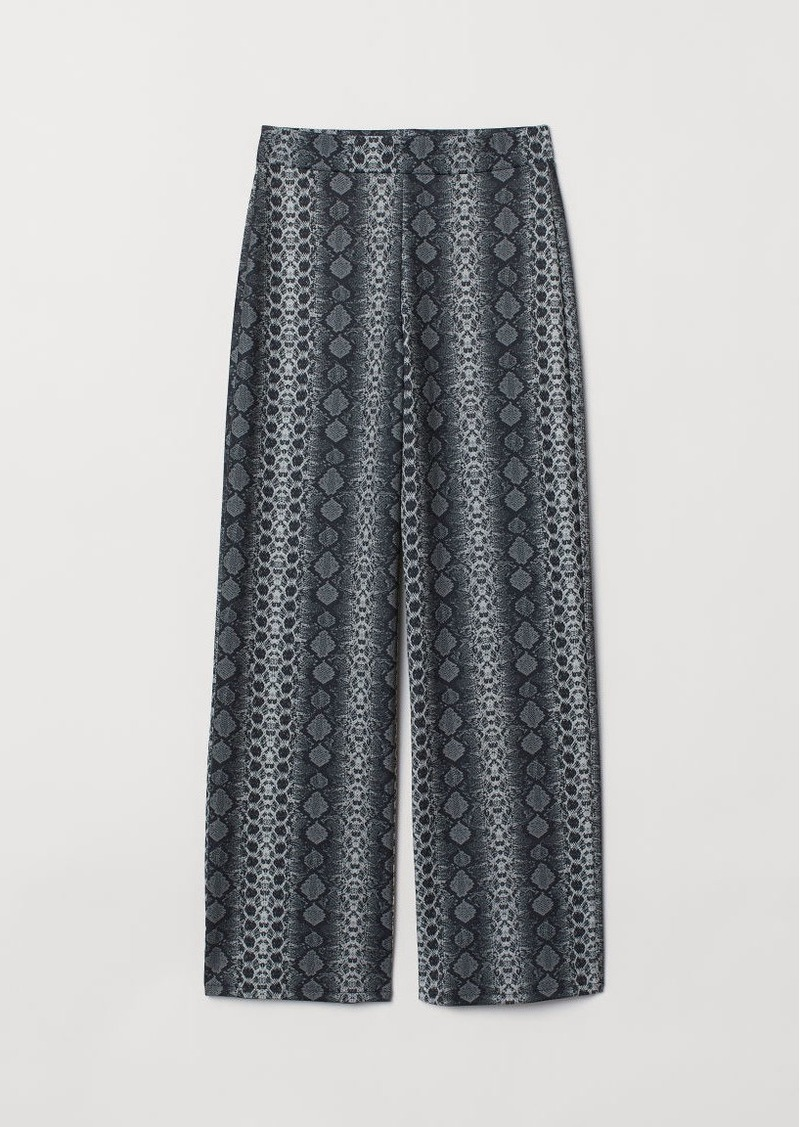H&M H & M - Wide-cut Jersey Pants - Gray