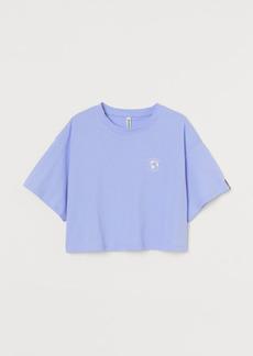 H&M H & M - Wide-cut Jersey Top - Blue