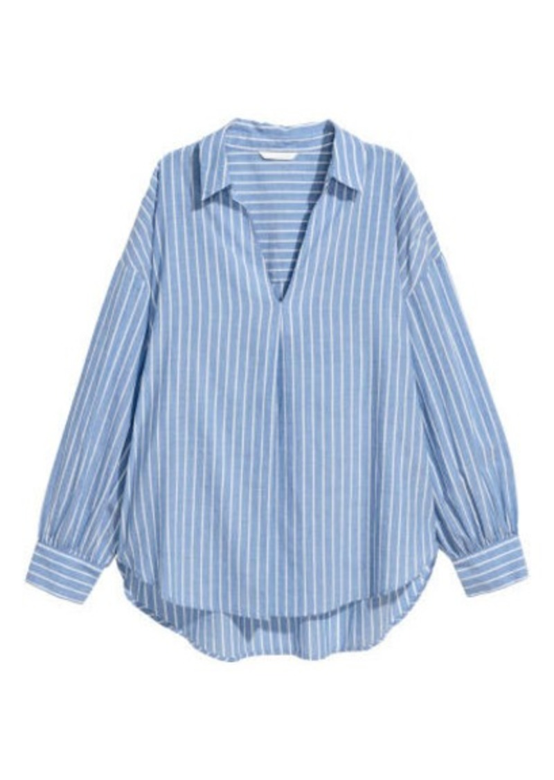 H&M H & M - Wide-cut Shirt - Blue