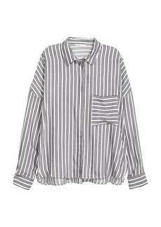 H&M H & M - Wide-cut Shirt - Gray