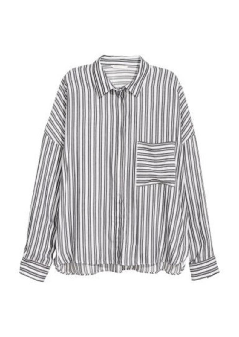 H&M H & M - Wide-cut Shirt - Gray