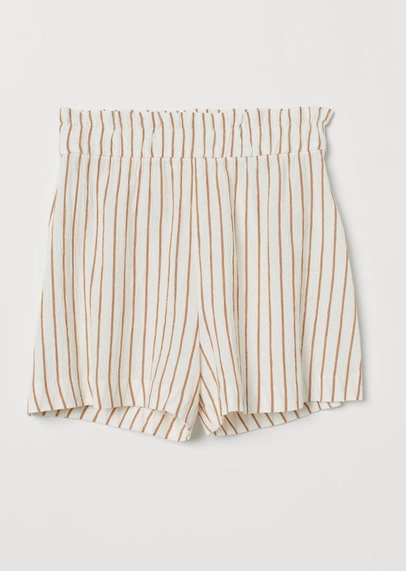 H&M H & M - Wide-cut Shorts - White