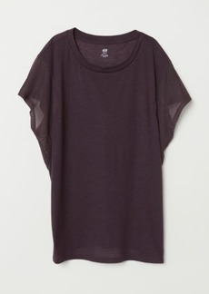H&M H & M - Wide-cut Sports Top - Purple
