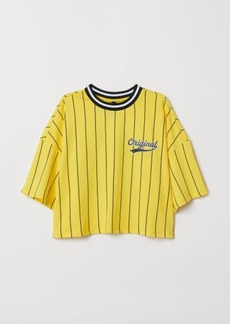 H&M H & M - Wide-cut T-shirt - Yellow