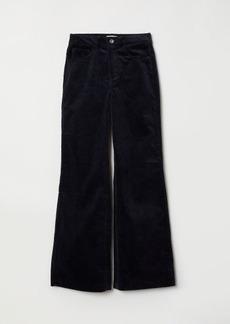 H&M H & M - Wide-leg Corduroy Pants - Blue
