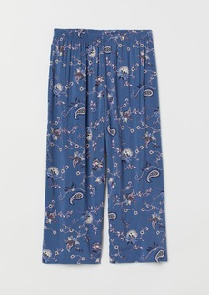 H&M H & M - Wide-leg Pajama Pants - Blue