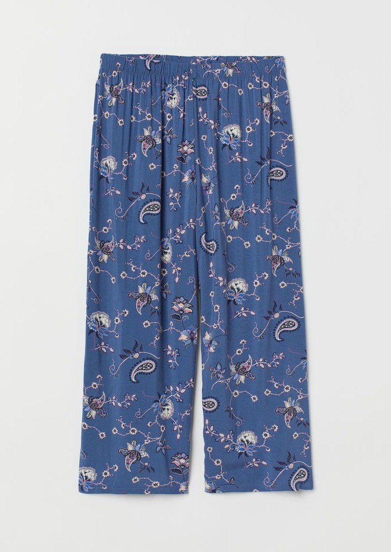 H&M H & M - Wide-leg Pajama Pants - Blue