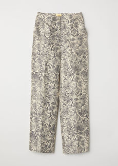 H&M H & M - Wide-leg Pants - Beige