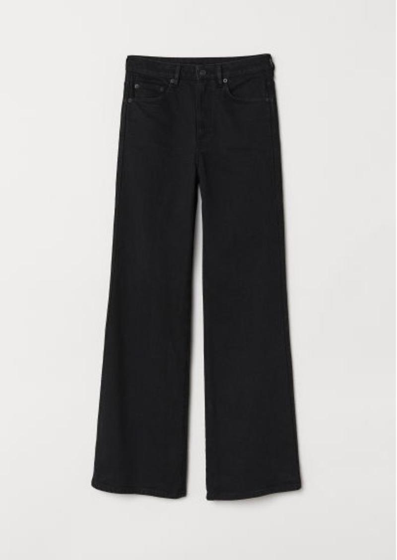 H&M H & M - Wide Regular Jeans - Black