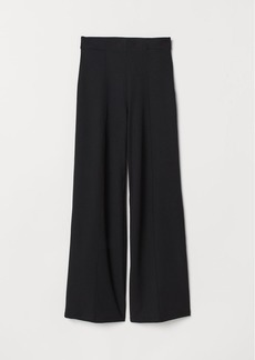 H&M H & M - Wide-leg Pants with Creases - Black