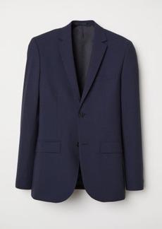 H&M H & M - Wool Blazer Slim fit - Blue