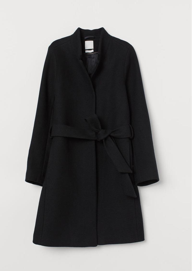 H&M H & M - Wool-blend Coat - Black