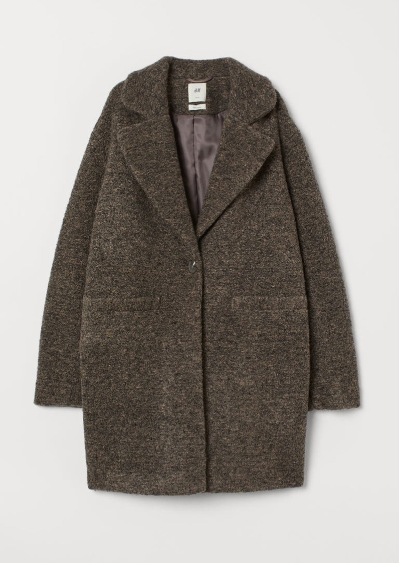 H&M H & M - Wool-blend Coat - Brown