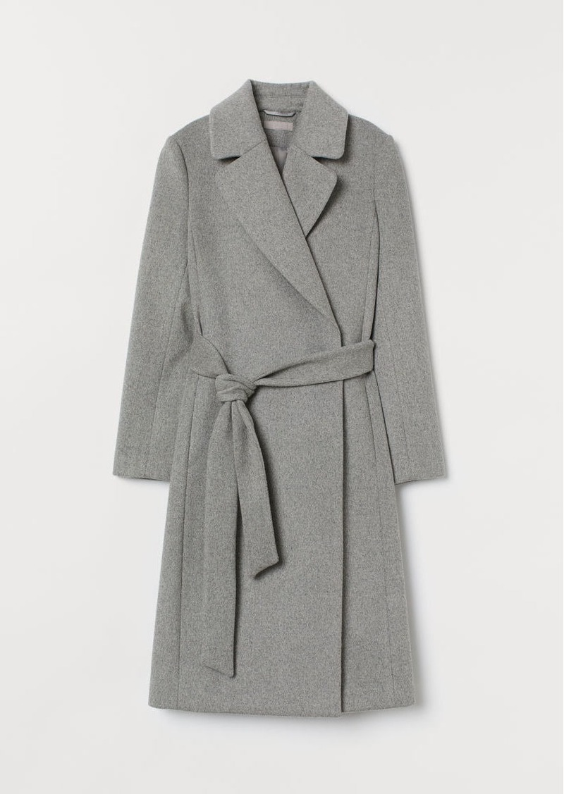 H&M H & M - Wool-blend Coat - Gray