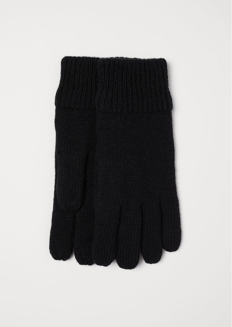 H&M H & M - Wool-blend Gloves - Black