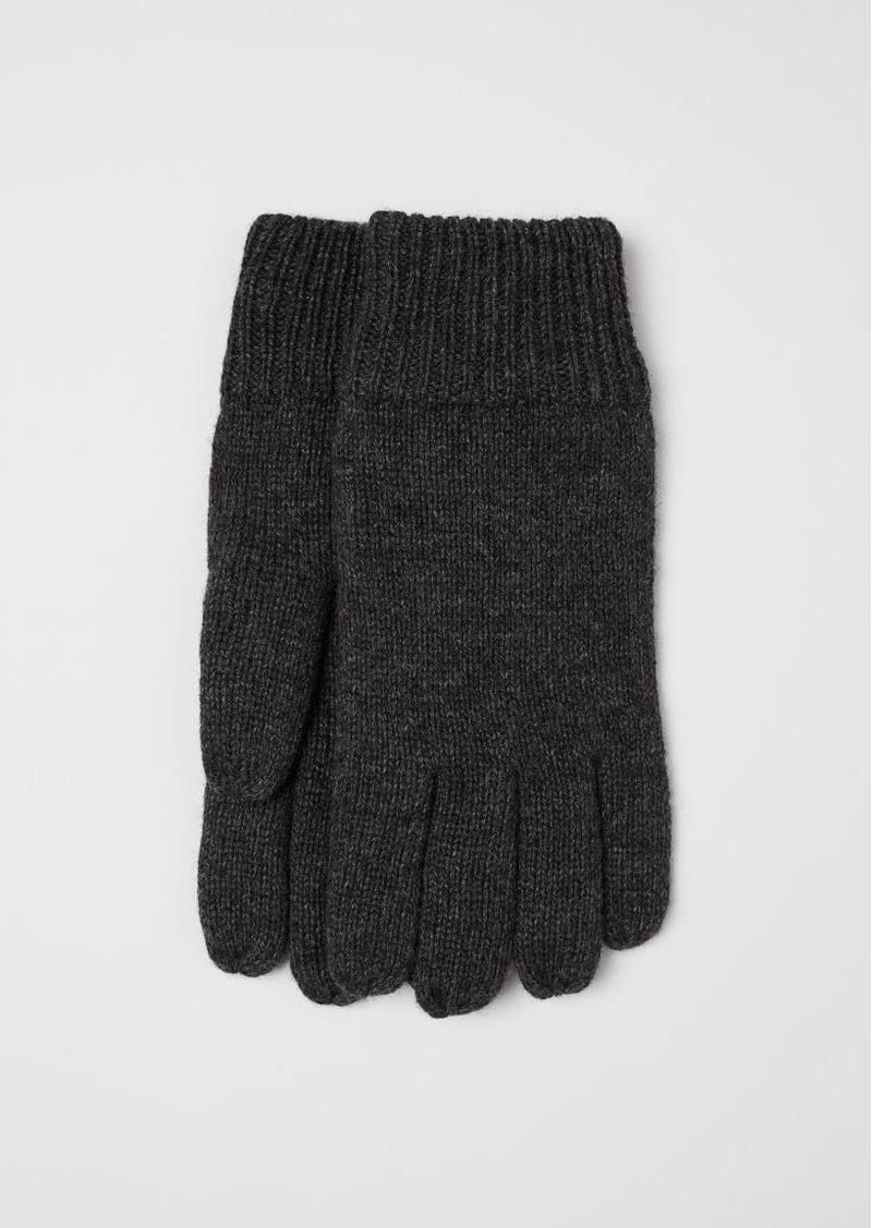 H&M H & M - Wool-blend Gloves - Gray