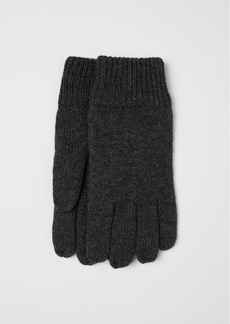 H&M H & M - Wool-blend Gloves - Gray