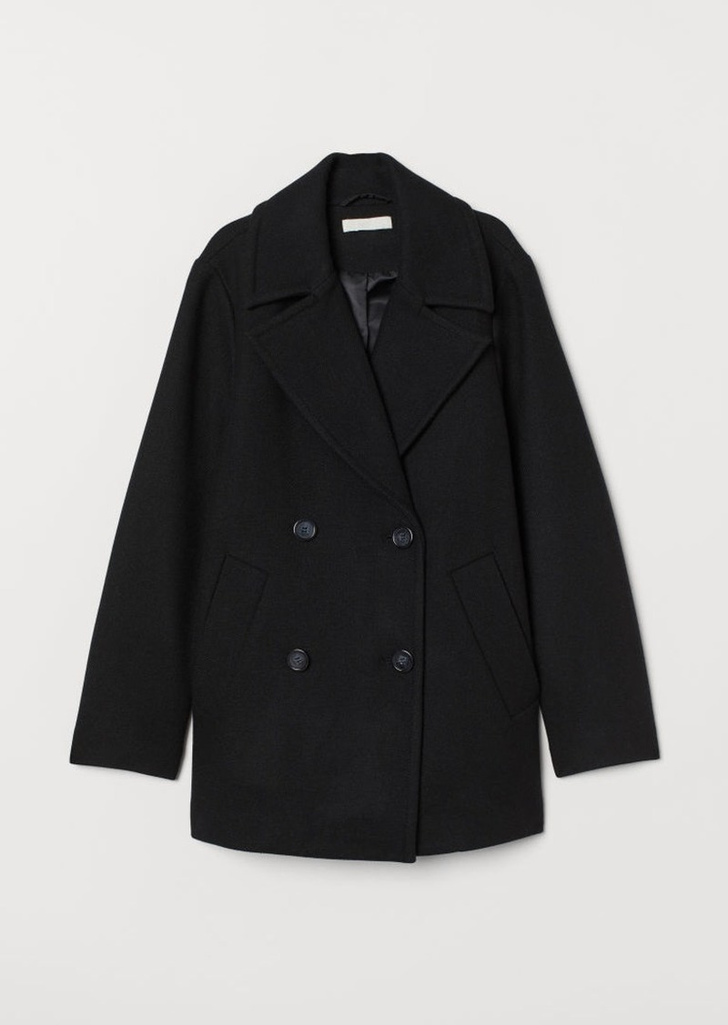 H&M H & M - Wool-blend Jacket - Black