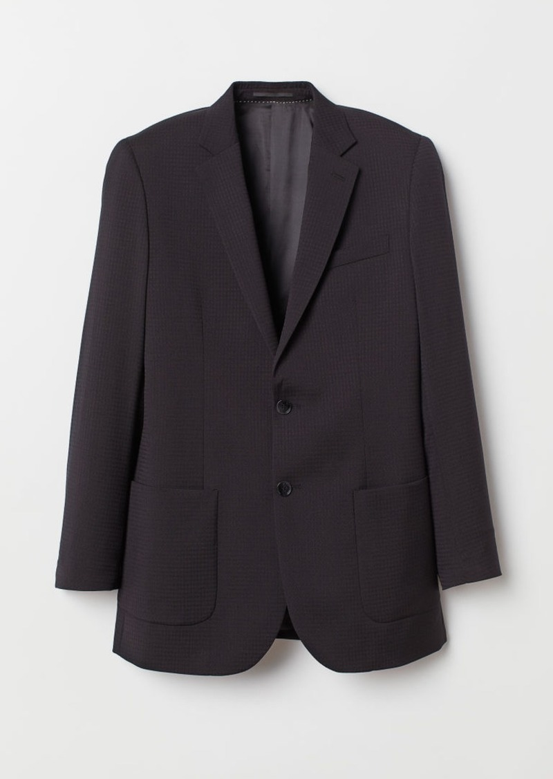 H&M H & M - Relaxed Fit Wool Blazer - Black
