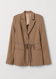 H&M H & M - Wool Jacket with Ties - Brown